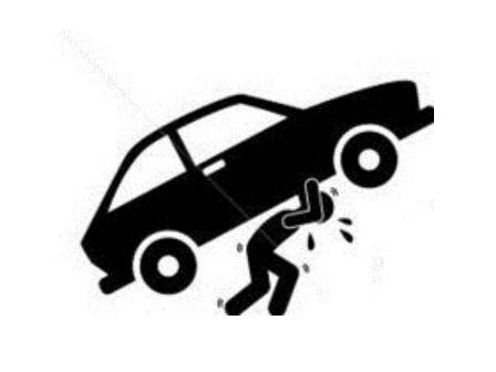 Hombre cargando carro por pago fuerte