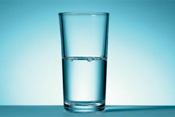 pesimista vaso lleno vacio